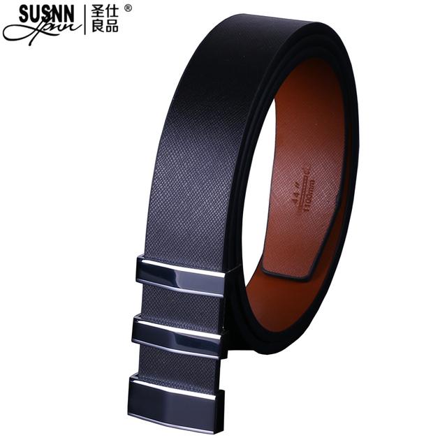 2016 Nuevo Diseñador de la marca de Cuero genuino de la Buena Calidad para hombre de negocios de lujo de la correa Masculina de la Hebilla Cinturones Para Hombre Jeans pantalones cinturones