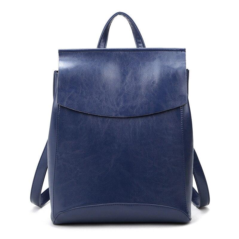 2017 Genuine Leather Women Backpack backpacks for teenage girls school bags female Vintage School Bags Travel leisure new C266