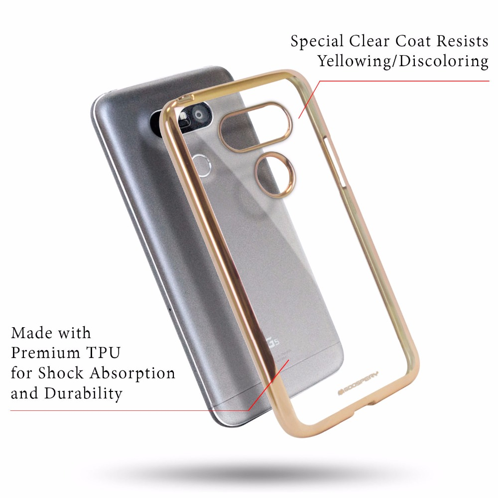 Original Mercury Goospery Ring2 Jelly Slim Fit Clear Tpu Bumper Case Pearl All Type Special  Yellow Transparent Cover For Lg G5 G6 In Half Wrapped From Cellphones