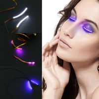 LED Eyelashes Eyelid False Eyelashes Unisex LED Light Eye Lash Luminous Shining Eyelash For Party Bar