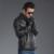 Importación de piel de Oveja Genuina de Invierno Cálida Chaqueta de Los Hombres de Piel Abrigo de Piel Negro de Cuero de Moda Casual Outwear Chaqueta de La Motocicleta de Calidad Superior