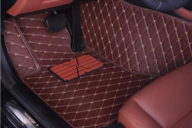 Jioyng Car Accessories Styling Custom Foot Mats 3d Luxury Leather