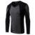2016 Nova V Pescoço camiseta Manga Longa Patchwork Moda Casual Camisa de T Dos Homens de Alta Qualidade Lazer Camisas Slim Fit Tshirt BT27