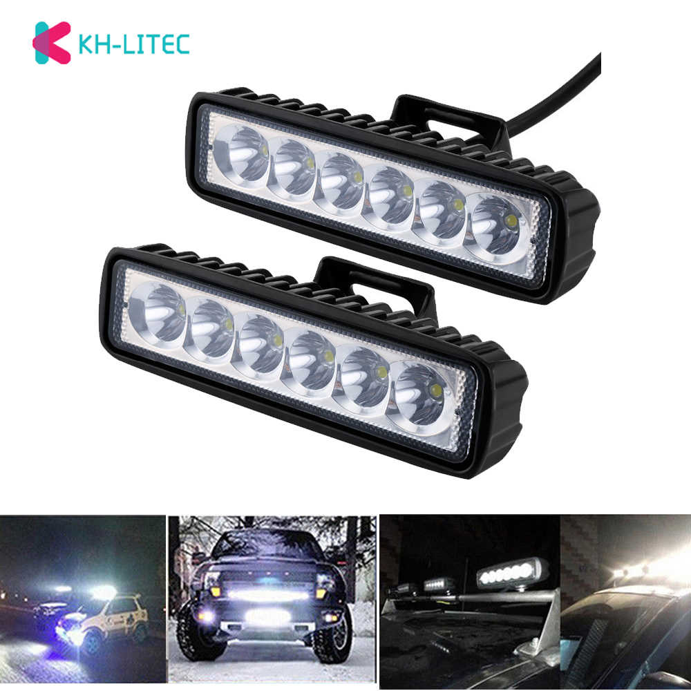 18W Flood Cree LED Light Work Bar Lamp Driving Fog Offroad SUV 4WD Boat Truck Sense Light