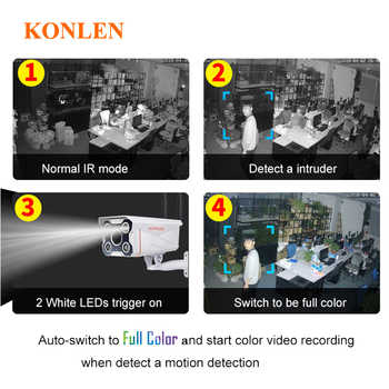 KONLEN Camhi IMX323 Hi3518e Bullet Outdoor IP Camera WIFI Wired HD1080P 720P Full Color Onvif Waterproof 3516 Audio SD TF Card
