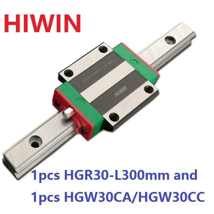 1pcs 100% original Hiwin linear rail guide HGR30 -L 300mm + 1pcs HGW30CA HGW30CC flange block for cnc original 1pcs t398n04tof