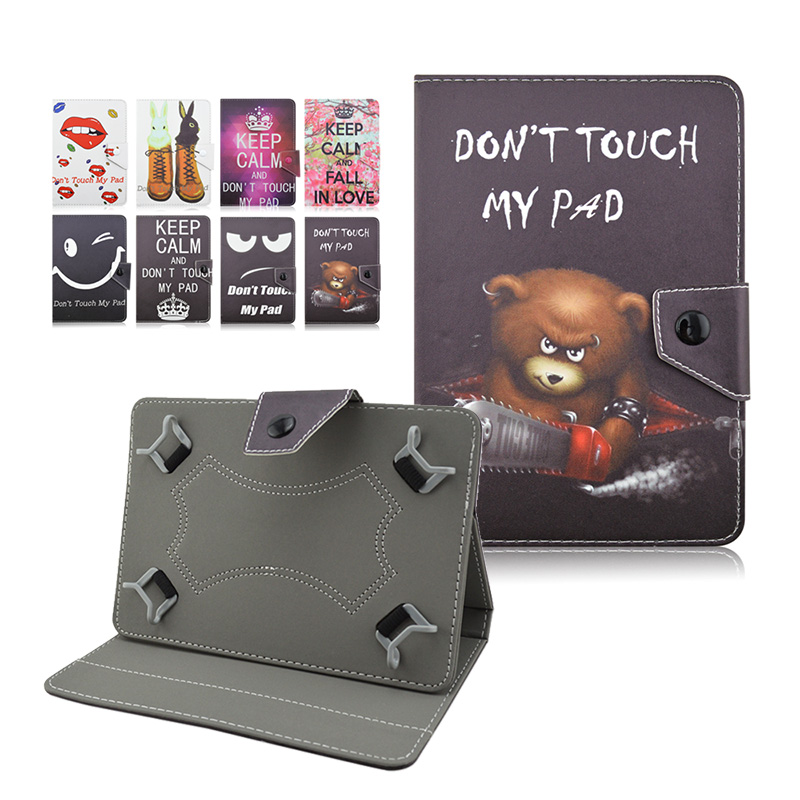 10 Cute Universal Tablet Foldable Leather Case For Digma Plane 10.51 10.1 inch Tablet Case Cover bags+Center Film+pen KF492A планшет digma plane 1601 3g ps1060mg black