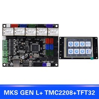 For MKS GEN L Compatible with TFT32 LCD Display Support TMC2208 Motor Driver 3D Print Kits SL@88