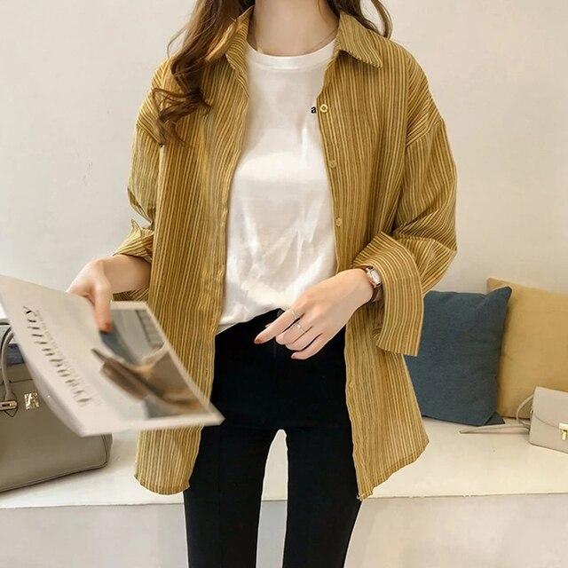 Causal Women Shirts Long Sleeve Turn Down Collar Blouse Shirt Plus Size 4XL Cotton Linen Women Tops Blusas Feminina DF2366 3