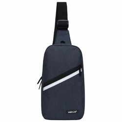 Crossbody Bags for Men Messenger Chest Bag Pack Casual Bag small Nylon Single Shoulder Strap Pack for women wholesale male black