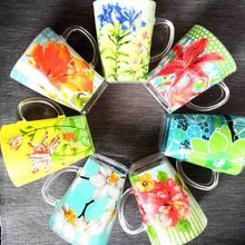 купить 2 Piece Drink mug glass Breakfast milk cup color Afternoon tea cup 270ml gift box дешево