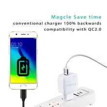 Magcle QC3.0 charger Quick charger 3.0 EU/US fast charger 18W Fast USB Charger for Samsung Xiaomi 5 Huawei LG drop shipping