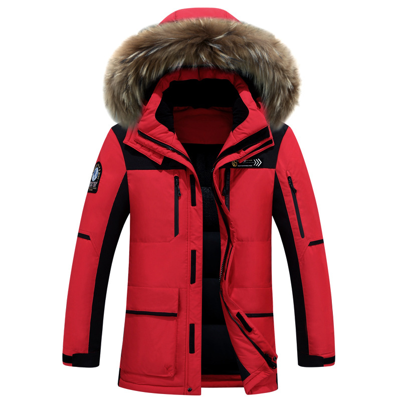 Can Withstand -40 Degrees Long Thick Fur Collar Daunenjacke Plus Size Detachable Cap Men Down Jacket Men Winter ...