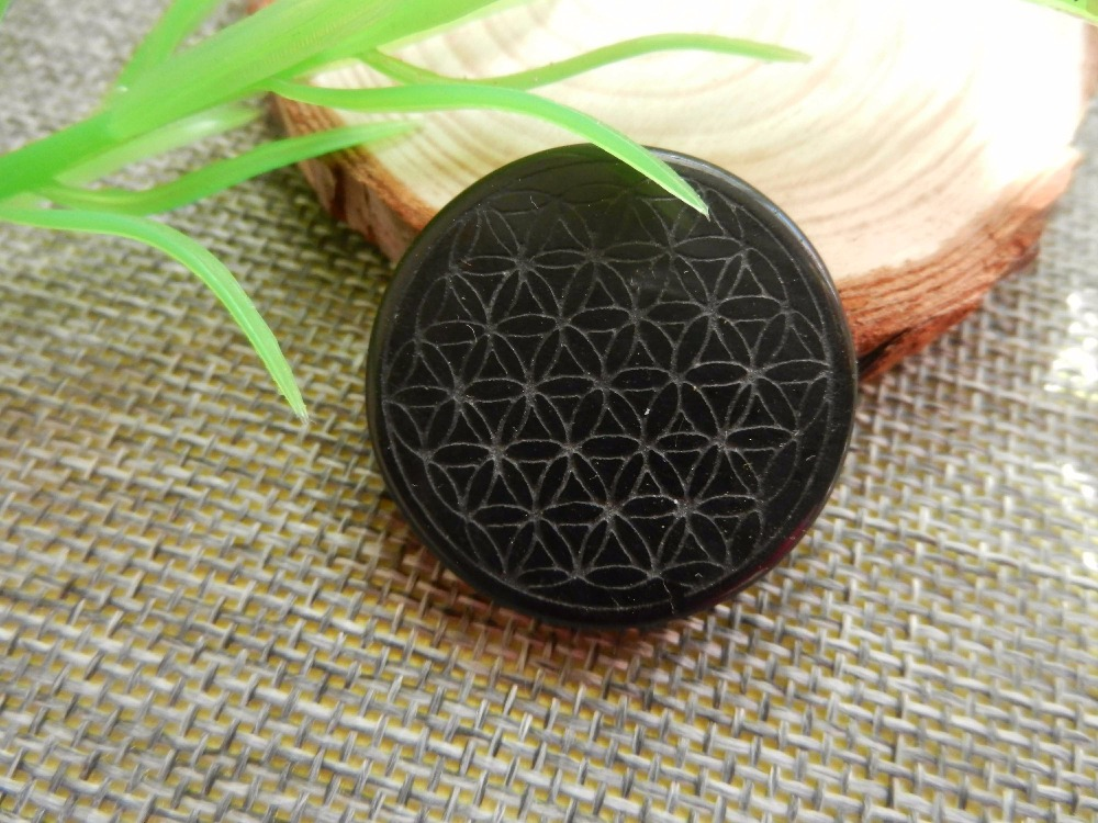 35mm High quality natural stone quartz crystal pendant flower of life pendulum obsidian pendants chakra suspension healing 2017 ayliss fashion 1pc chakra gem stone tree of life wire wrapped natural clear quartz healing crystal point pendant necklace