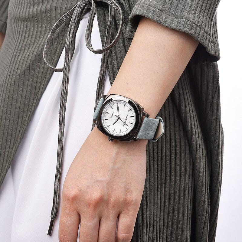 Nouveau design carré femmes montres RENAISSANCE populaire marque de mode casual dames montre à quartz horloge gris montres reloj mujer