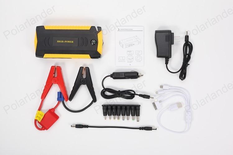 ФОТО 2016 New Mini Portable Car Jump Starter Emergency Start 12V 20000mAh Engine Multi-Function Power Bank Battery Charger