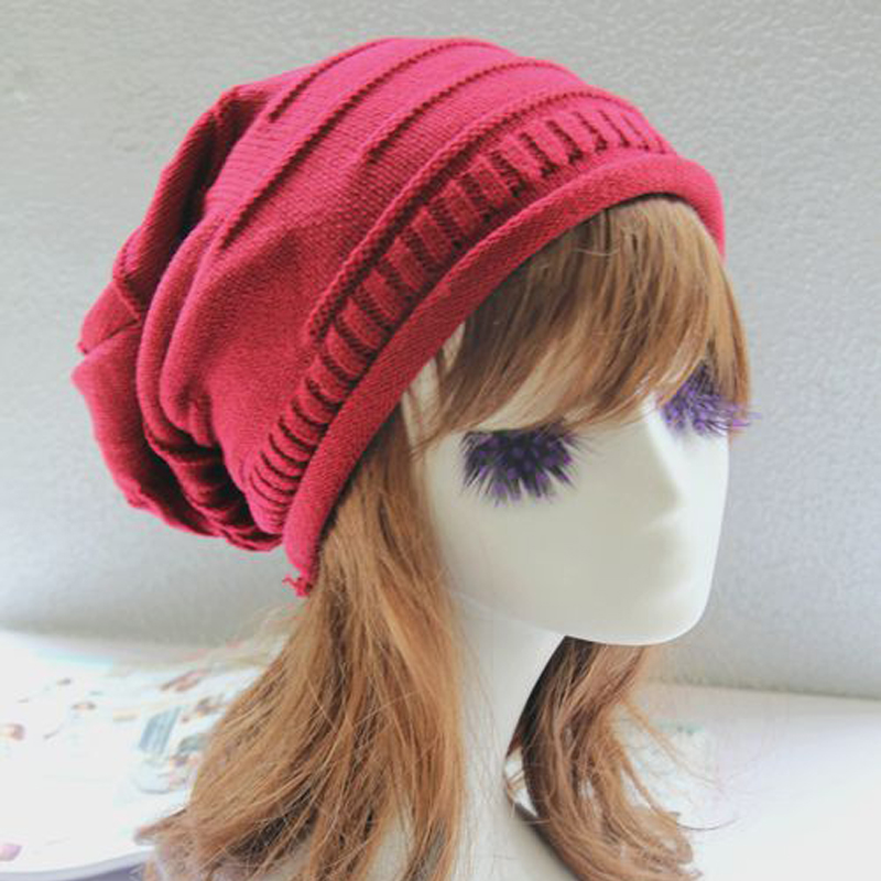 Warm Autumn Hot 2017 Snowboard Skating Knitted Winter Caps Women Beanies Snap Slouch Bonnet Beanie Hat Gorro For Male Female