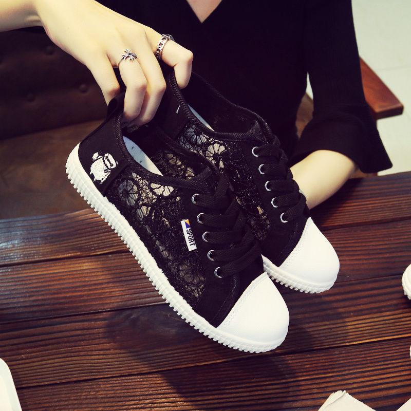 Net shoes women's sports shoes breathable mesh summer sandals summer hollow new wild Korean flat shoes