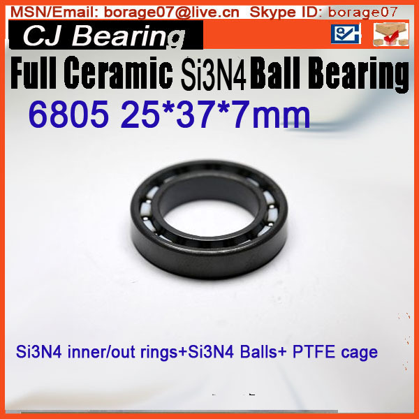 6805 full si3n4 ceramic ball bearing / 61805 si3n4 Full 25 *37 * 7 mm 20mm bearings 6004 full ceramic si3n4 20mmx42mmx12mm full si3n4 ceramic ball bearing