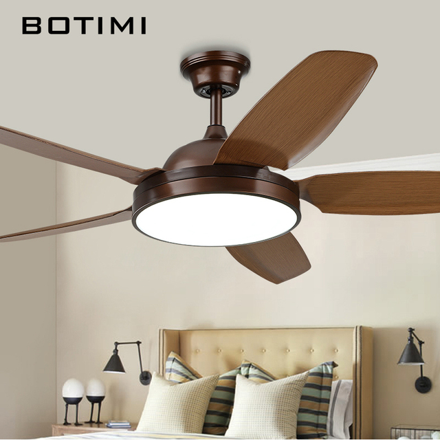 Botimi 52 Inch Led Ceiling Fan For Living Room Lights Modern Cooling Fans Home