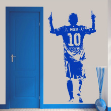 YOYOYU Lionel Messi Figure Vinyl Wall Sticker Kids Room Football Player Bedroom Decor football star Decals Soccer Fan ZX294