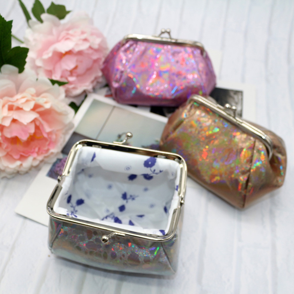 Women Girls Reflector Laser Coin Purse Wallet Bag Change Pouch Key Holder Dropshipping J ...