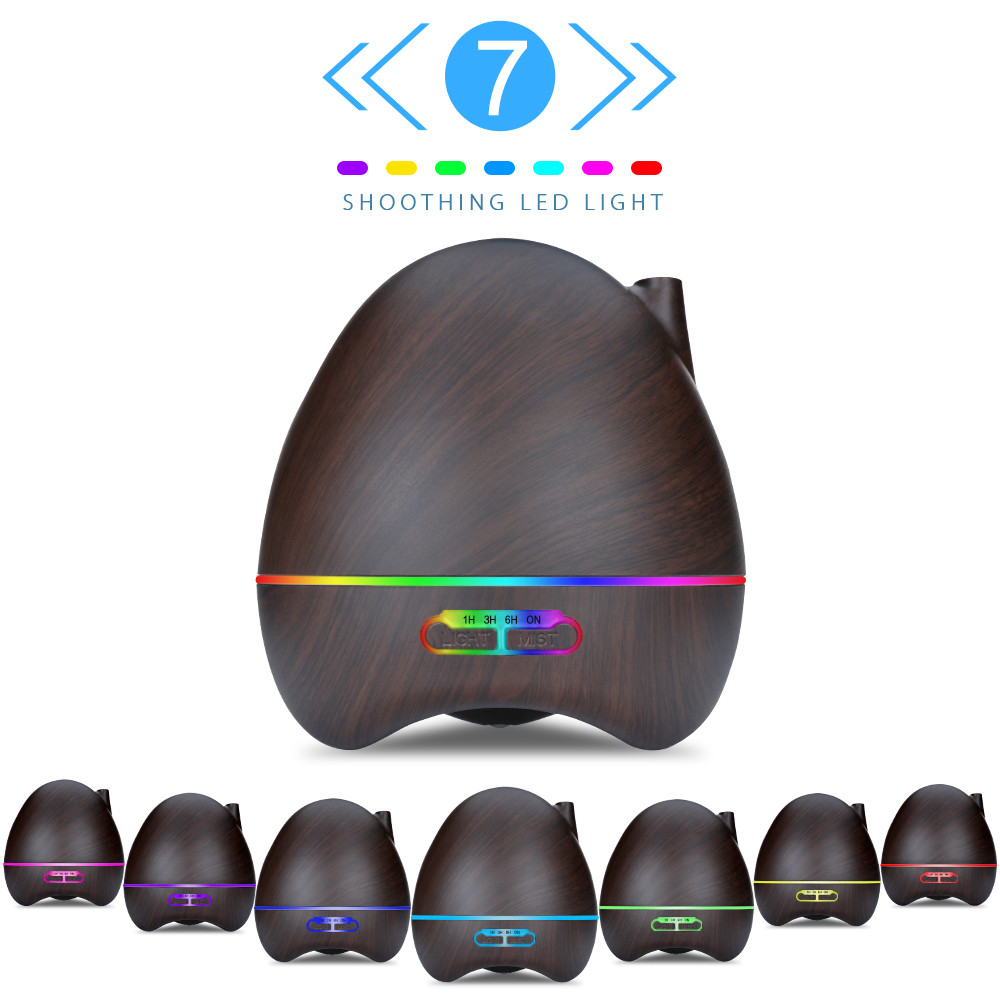 300ML Electric Aroma Diffuser Ultrasonic Air Humidifier Essential Oil Diffuser Aromatherapy 7 Color Night Light For Home Office