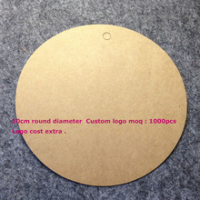 10cm Round Bigger Kraft Tag Hand Made Custom logo Cost Extra Swing Label 1LOT 50 pcs