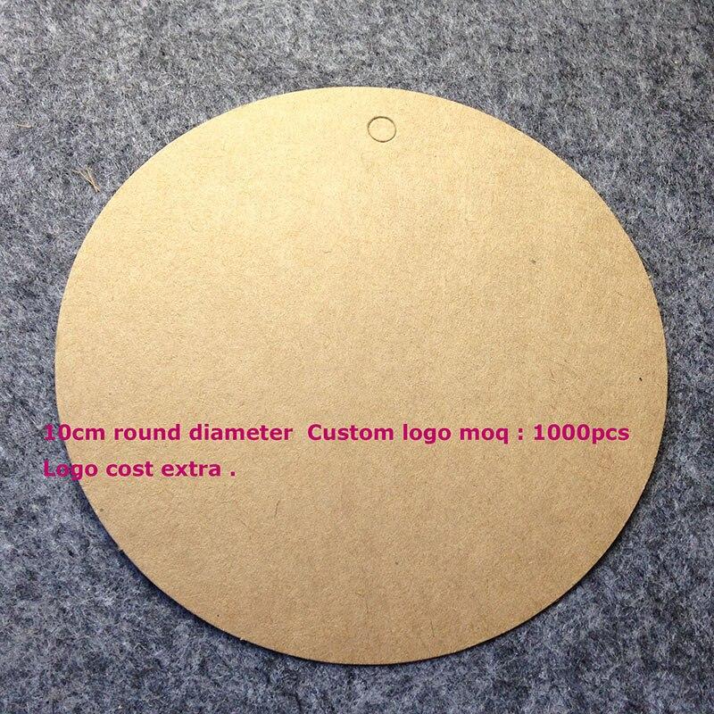 10cm Round Bigger Kraft Tag Hand font b Made b font font b Custom b font
