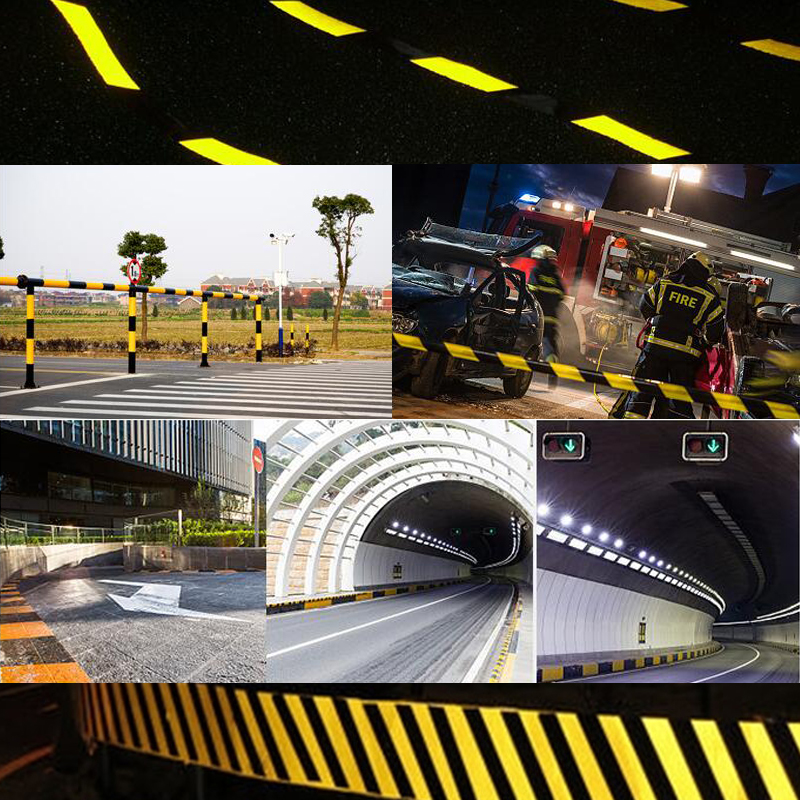Купить с кэшбэком 10cm width Safety Mark Reflective Tape Sticker Self Adhesive Warning Tape
