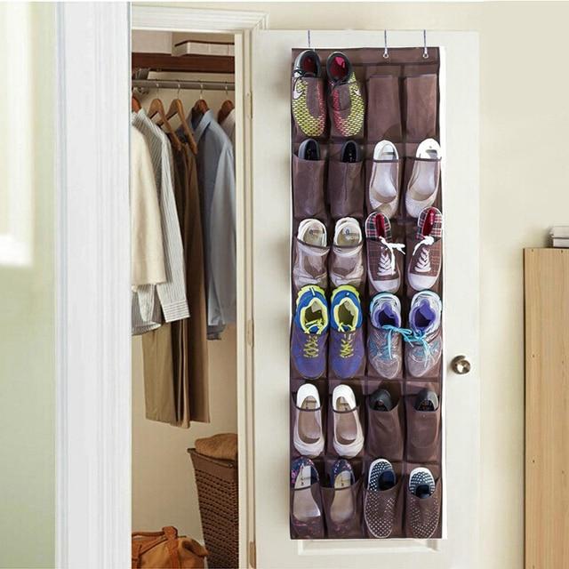 24 Pockets Large Folding Wardrobe Hanging Bags Cavas Organizer Closet Shoes Storage Bag Trunk Rangement For Toys