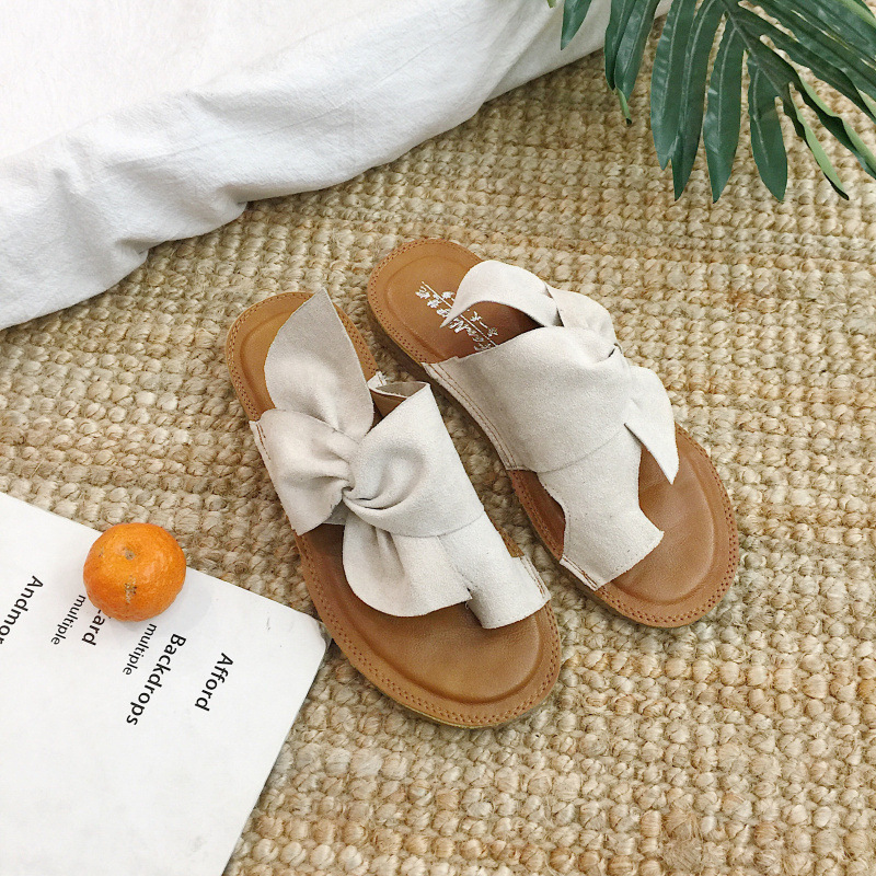 Women shoes 2018 new spring summer Fashion wearproof loafer espadrilles sandal top air non-slip slippers butterfly soft sexy