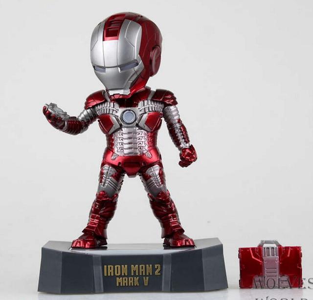 """איירון מן 18 ס""""מ עם led אור פעולה דמויות pvc דמויות צעצועי אוסף brinquedos מתנה לחג המולד עם תיבה הקמעונאי"""