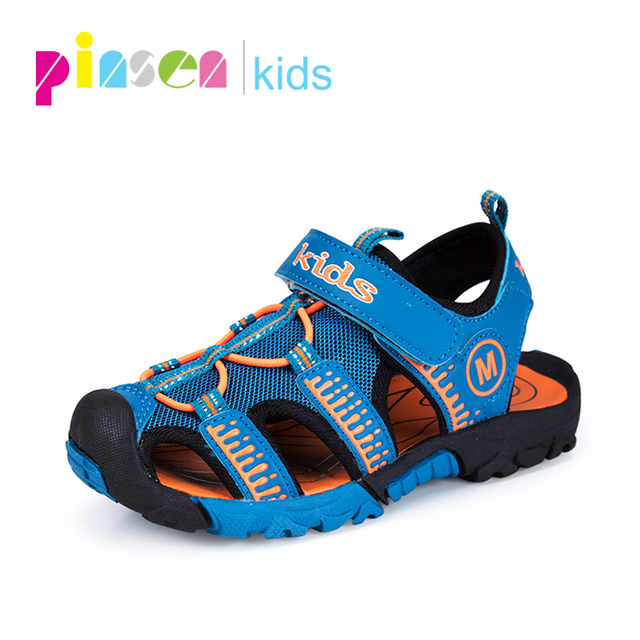 2018 Brand Kids Sandals For Boys Fashion Summer Children Shoes Baby Boy Closed Toe Beach