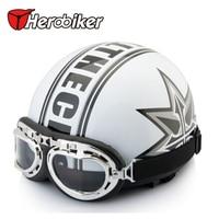 Free Shipping New Summer Helmet Vespa Open Face Half Motorcycle Goggles Motorcycle Helmet Blue Clovers