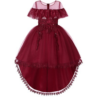 Summer Kids Formal Dress for Girls Clothes Flower Pageant Birthday Party Princess Dress Girl Clothes 14 Years CA611