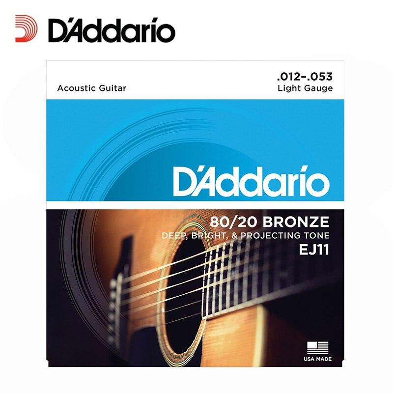 D/'addario 10 Sets EJ17 Medium Acoustic Guitar Strings EJ 17 Pack 10 13-56