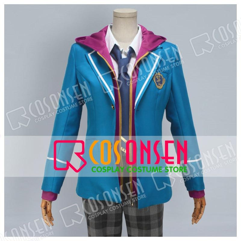 COSPLAYONSEN Ensemble Stars Yumenosaki Private Academy Mao Isara Uniform Cosplay Costume Full Set