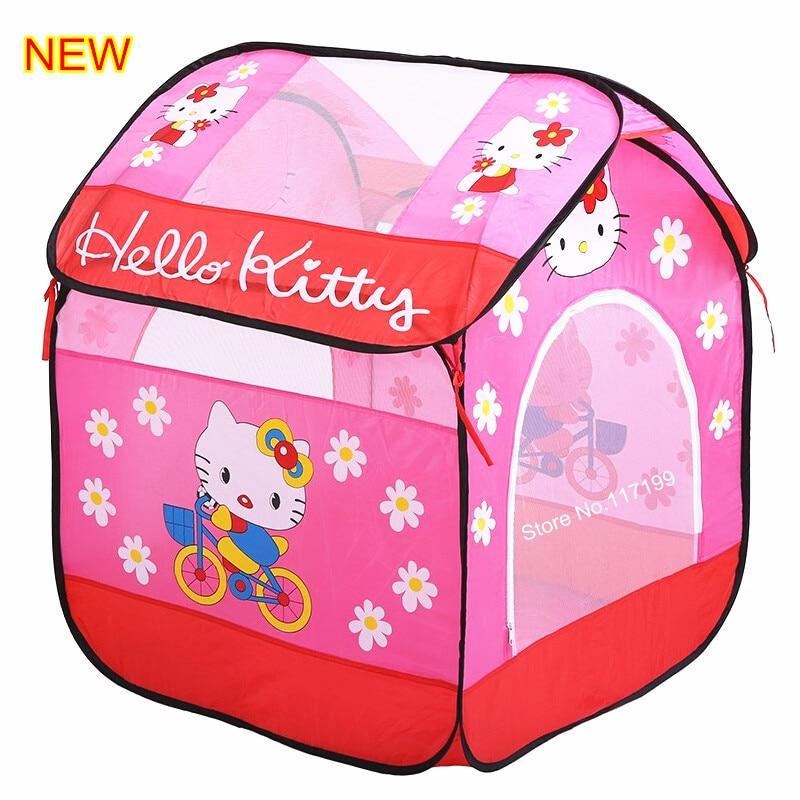 Bērnu meitene dāvana Jauns ierašanās rozā karikatūra Spēlēt spēli Māja Kvalitāte Bērni Bērnu rotaļu telts Cute Baby elpojošs rotaļlietu telts DSN001