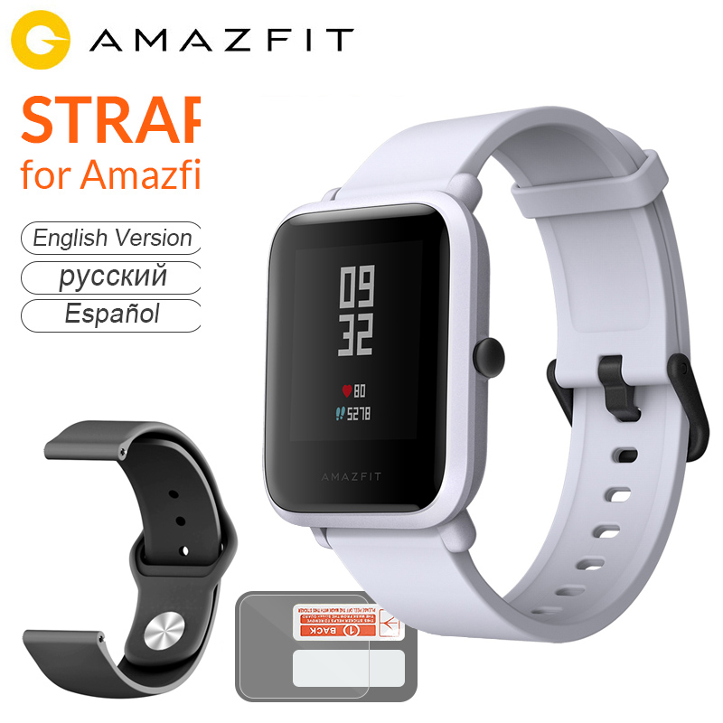 English Version Amazfit Bip Smart Watch Huami GPS Smartwatch Android iOS Heart Rate Monitor 45 Days