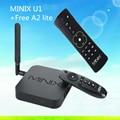 MINIX NEO U1 + A2 lite дистанционного Android 5.1.1 TV Box Amlogic S905 2 Г/16 Г четырехъядерный процессор Cortec-A53 Потокового Медиа-Плеер Поддерживает 4 К Ko