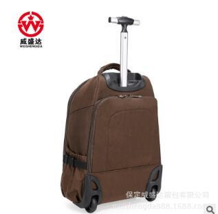 wheeled Rolling Backpacks Travel trolley Rolling bags Men Nylon ...