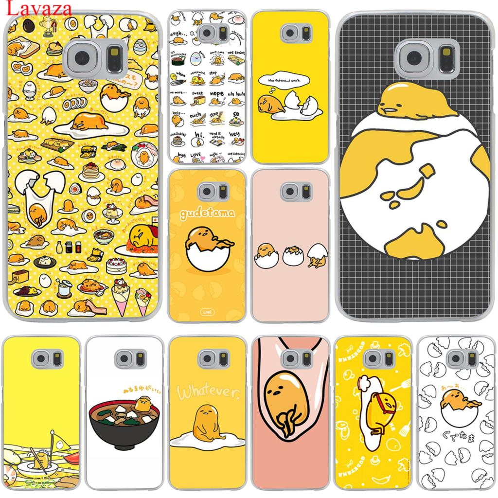 sports shoes ef823 1ce47 Cute Lovely Gudetama Lazy Egg Hard Transparent Phone Samsung Galaxy S8 S9  Plus S3 S4 S5 S6 S7 Edge Cover