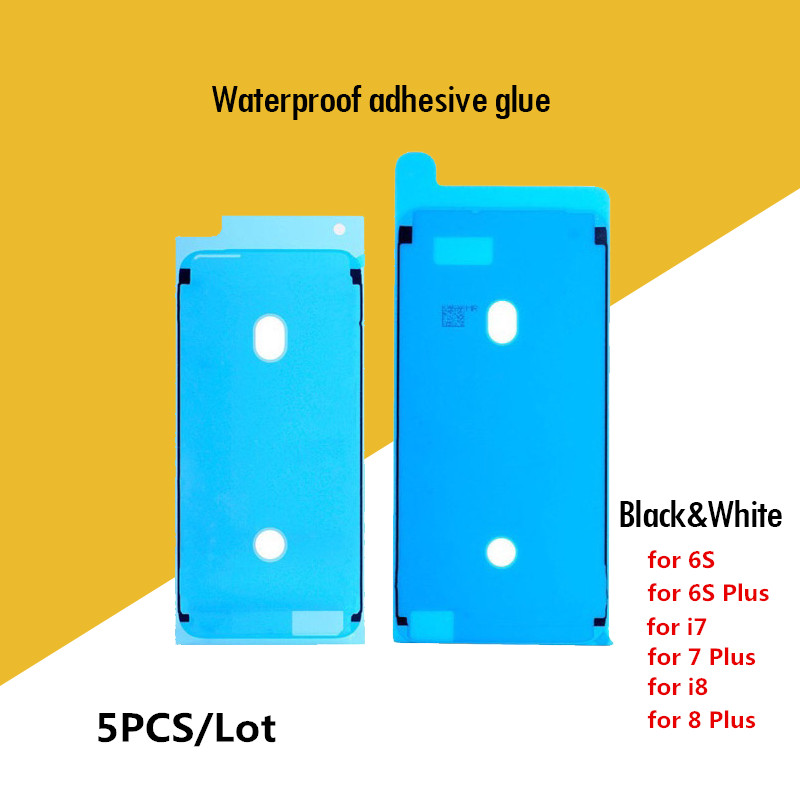 5PCS Pre-Cut Glue Front Screen LCD Display Frame Adhesive Tape for iPhone 8 plus 7 7Plus 6S 6S Plus Waterproof Pegatinas Sticker