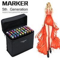 Touchfive 30 40 60 80Color Dual Head Paint Markers Alcoholic Oily Based Ink Art Marker Set