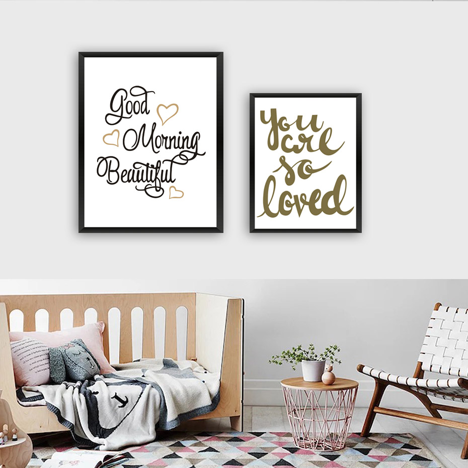 Good Morning Beautiful Quotes Canvas Art Nordic Print