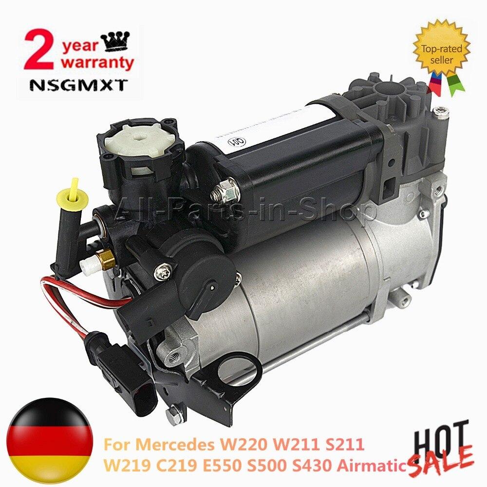 Pompa Compressore Sospensioni pneumatiche Per Mercedes W220 W211 S211 W219 C219 E550 S500 S430 Airmatic 2113200104 2203200104 2203200304