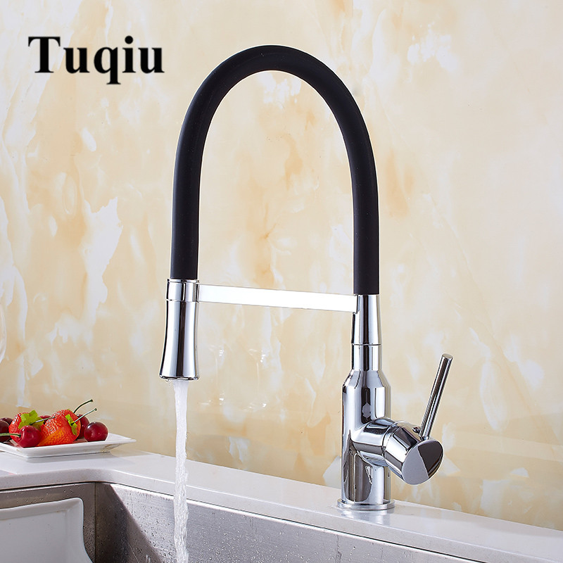 Kitchen Faucets Deck Mounted 360 Degree Rotation Mixer Tap One Hole Hot and Cold Swivel Mixer Tap Crane For Kitchen