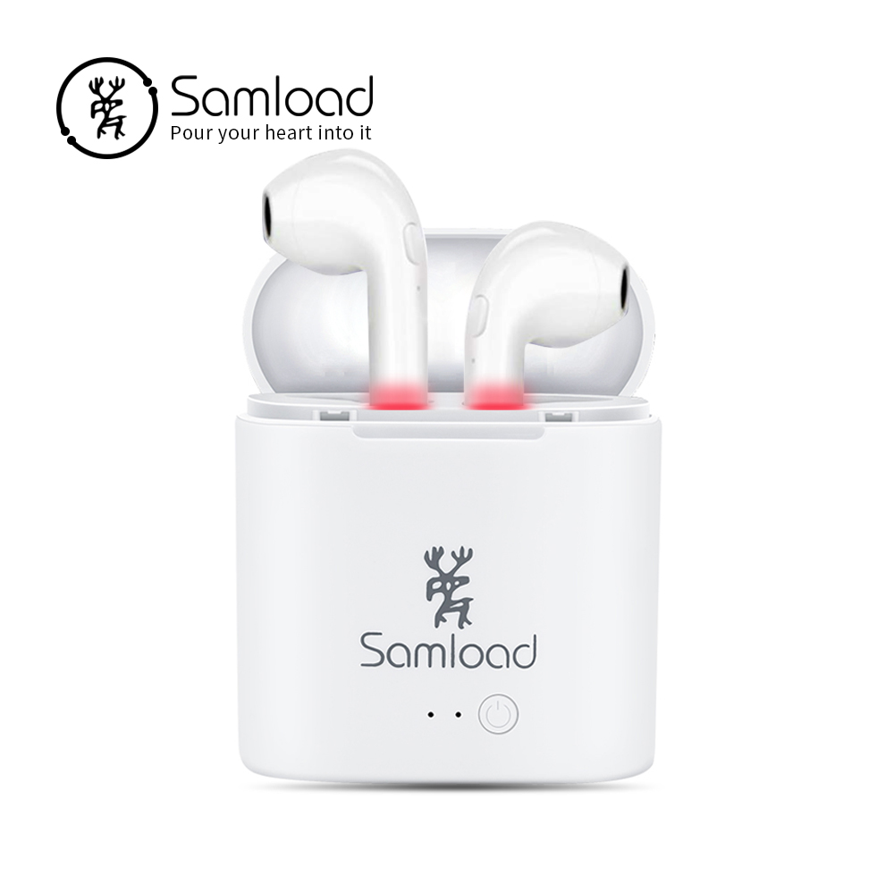 Samload Bluetooth Earphone earbuds Wireless Headphones Air Pods Deep Bass Earpiece For Samsung LG Xiaomi Sony Headset Huawei HTC сотовый телефон samsung galaxy note 5