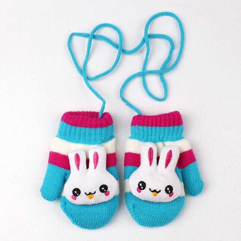 Lindo conejo bebé guantes cálidos de terciopelo niños guantes para ...